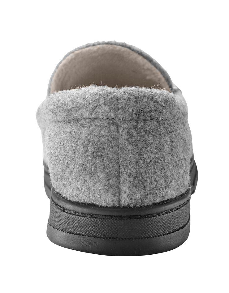 Pantoufles homme feutrine, gris, hi-res image number 4