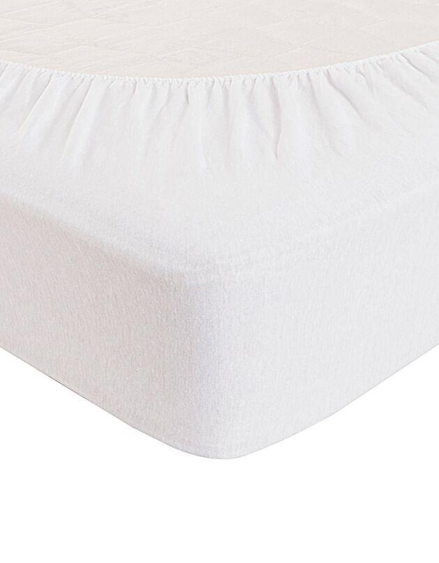 Drap-housse imperméable Tencel®, blanc, hi-res