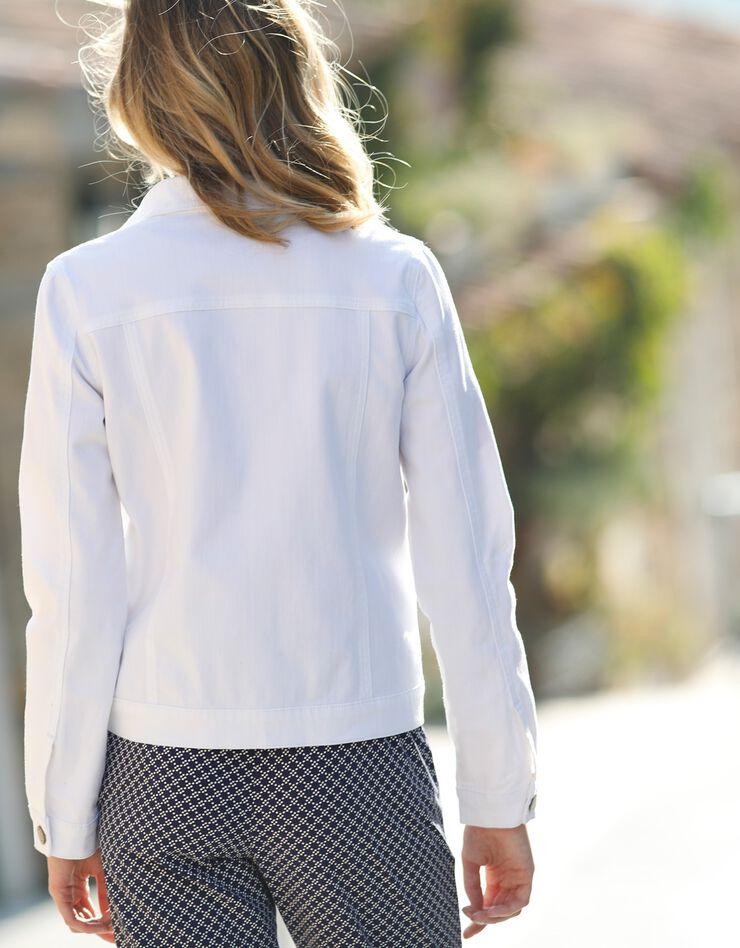 Verwassen jeansjasje, wit, hi-res image number 2