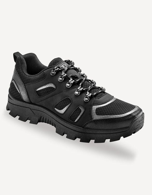 Chaussures lacées détente et loisirs, noir, hi-res