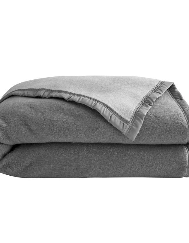 Tweekleurig deken, grijs, hi-res