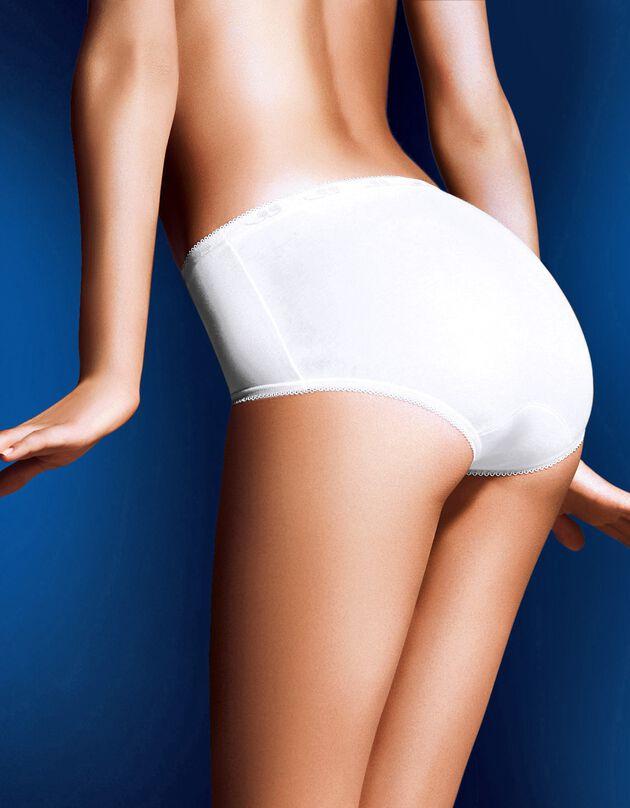 Culotte midi Basic - lot de 3, blanc, hi-res