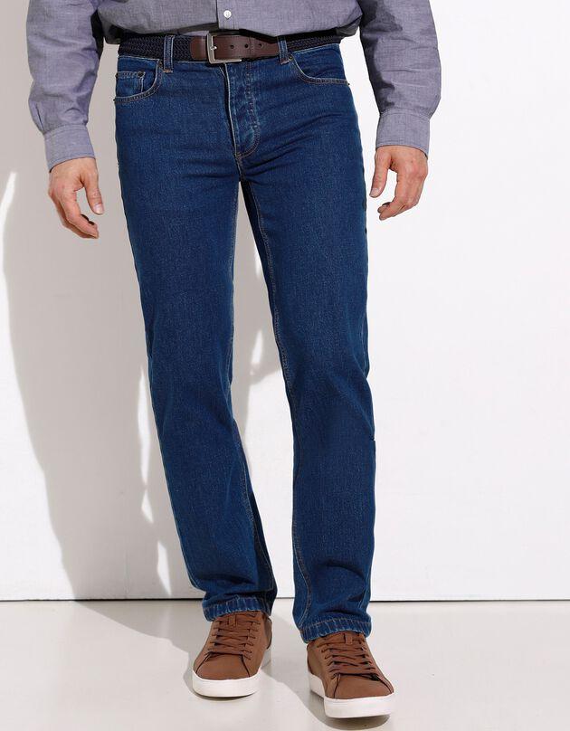 Authentieke jeans in recht model - binnenpijplengte 82 cm, stone, hi-res