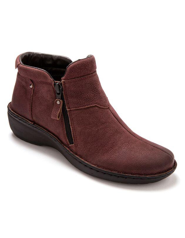 Boots ultra légères cuir - bordeaux, bordeaux, hi-res