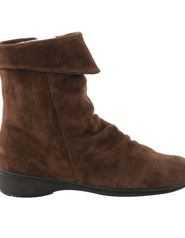 Gevoerde leren boots, bruin, hi-res