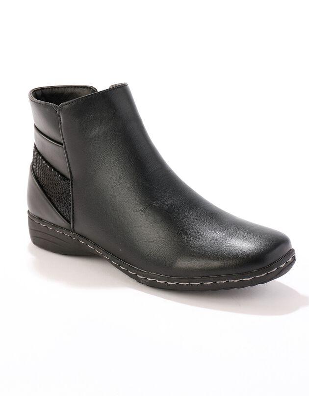 Platte boots, dames - zwart, zwart, hi-res