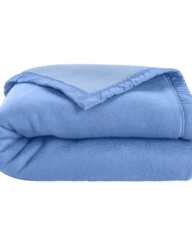 Tweekleurig deken, blauw, hi-res