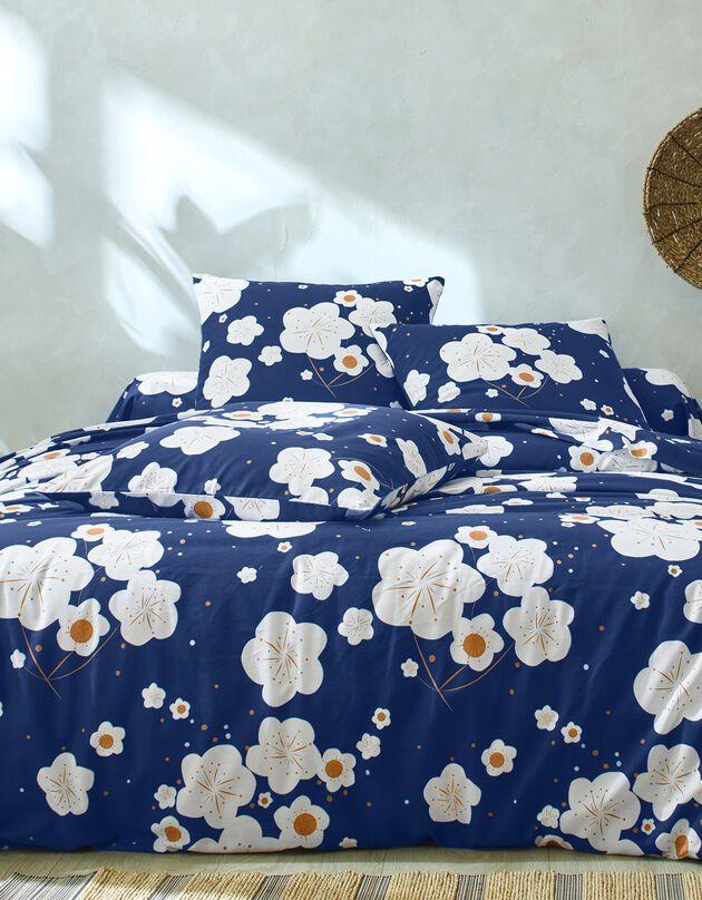 Bedlinnen Nagoya - polykatoen, blauw, hi-res