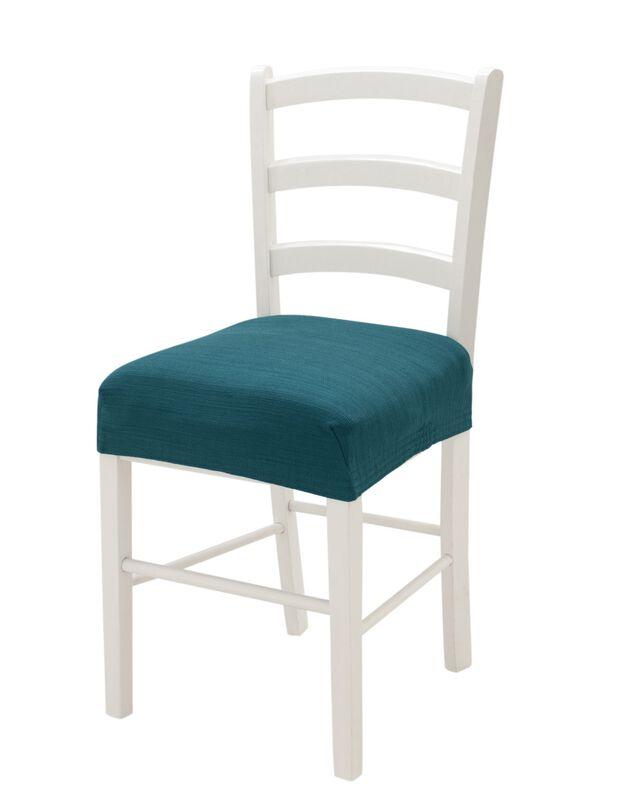 Rekbare stoelhoes, eendenblauw, hi-res