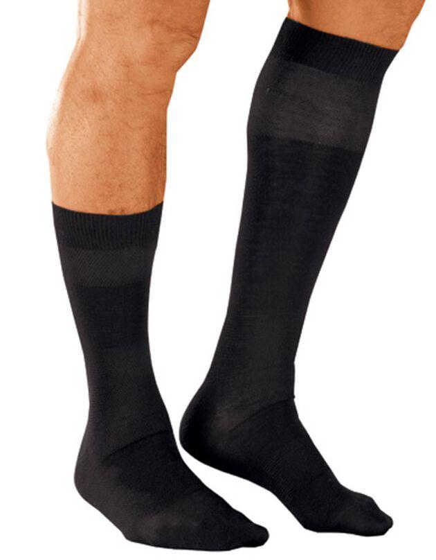 Chaussettes laine effet massant - lot de 2 paires, noir, hi-res