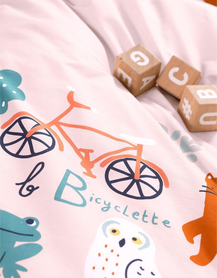 Bedlinnen voor kinderen met 'Alfabet' motieven, in katoen, roze, hi-res image number 5