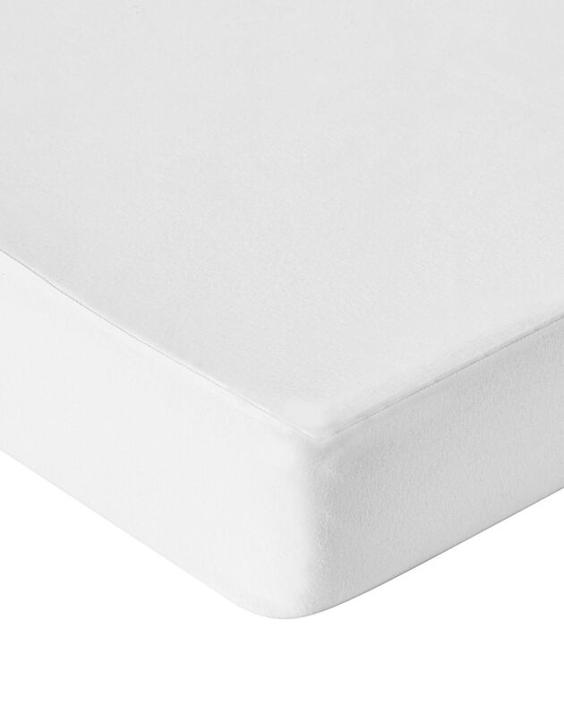 Protège-matelas molleton absorbant 400 g/m2 housse 30 cm, blanc, hi-res