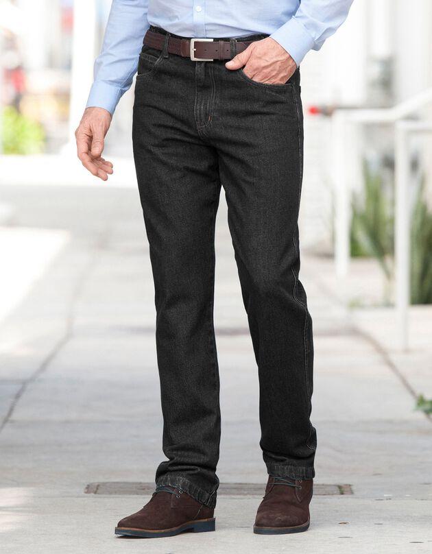 Comfortabele jeans met elastische tailleband, black, hi-res