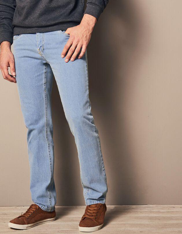 Jeans voor gezet lichaam, bleached, hi-res