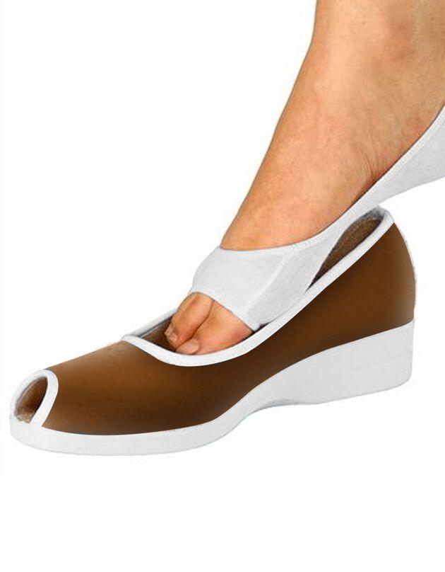 Socquettes pieds ouverts, blanc, hi-res