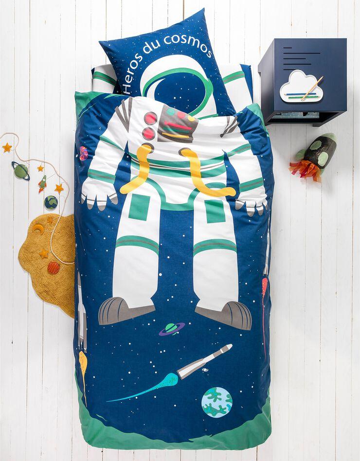 Bedlinnen voor kinderen met vermommingseffect Cosmos, in katoen, marine, hi-res image number 0