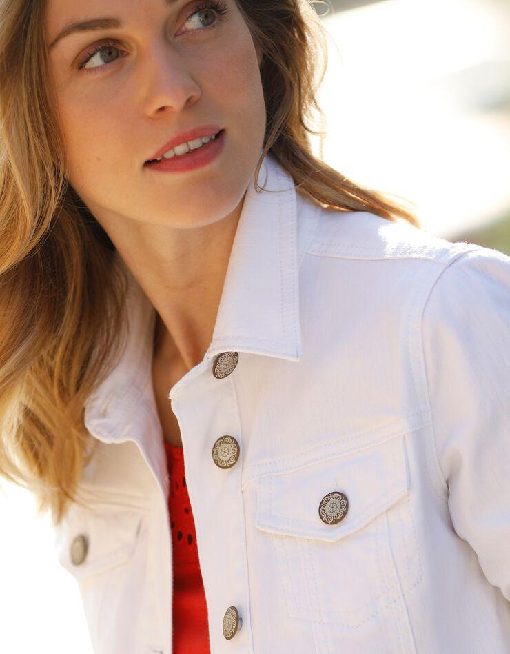 Verwassen jeansjasje, wit, hi-res image number 4