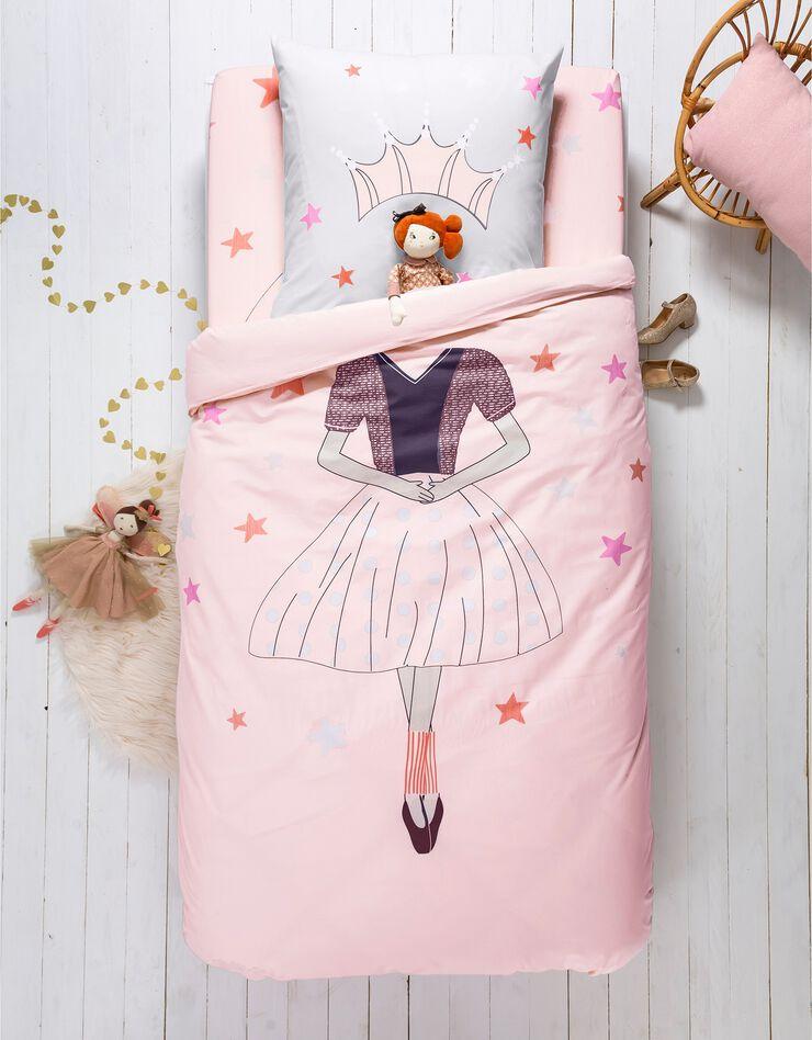 Bedlinnen voor kinderen met vermommingseffect Prinses, in katoen, poederroze, hi-res image number 4