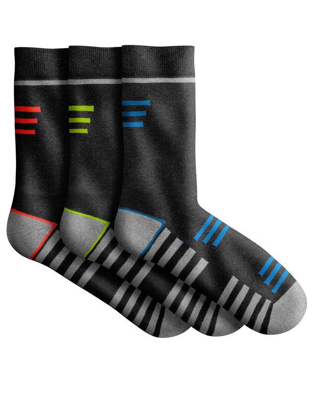 Chaussettes sport - lot de 3 paires, noir, hi-res