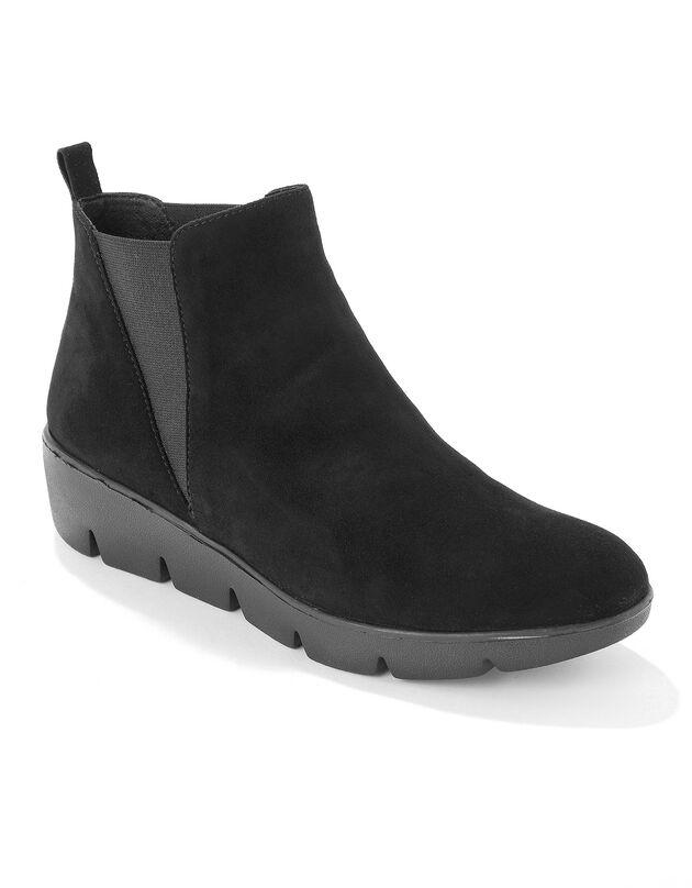 Boots compensées cuir souple certifié LWG - noir, noir, hi-res