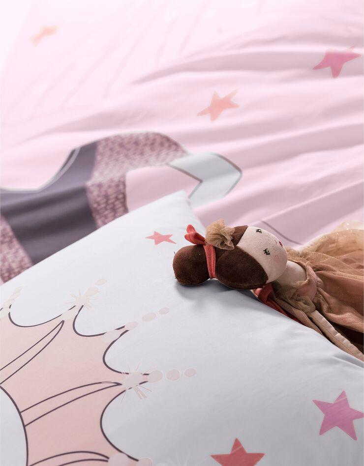 Bedlinnen voor kinderen met vermommingseffect Prinses, in katoen, poederroze, hi-res image number 6