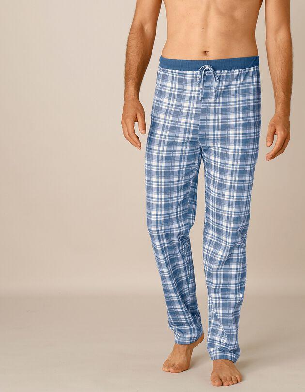 Pantalon pyjama bas droits - lot de 2, carreaux bleu / carreaux gris, hi-res