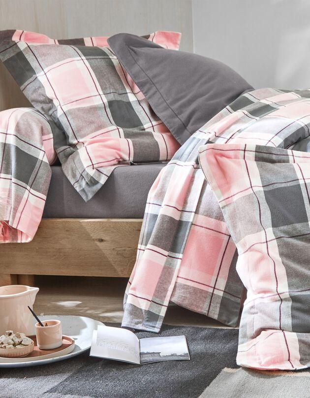 Linge de lit Scott flanelle tissé teint, rose, hi-res