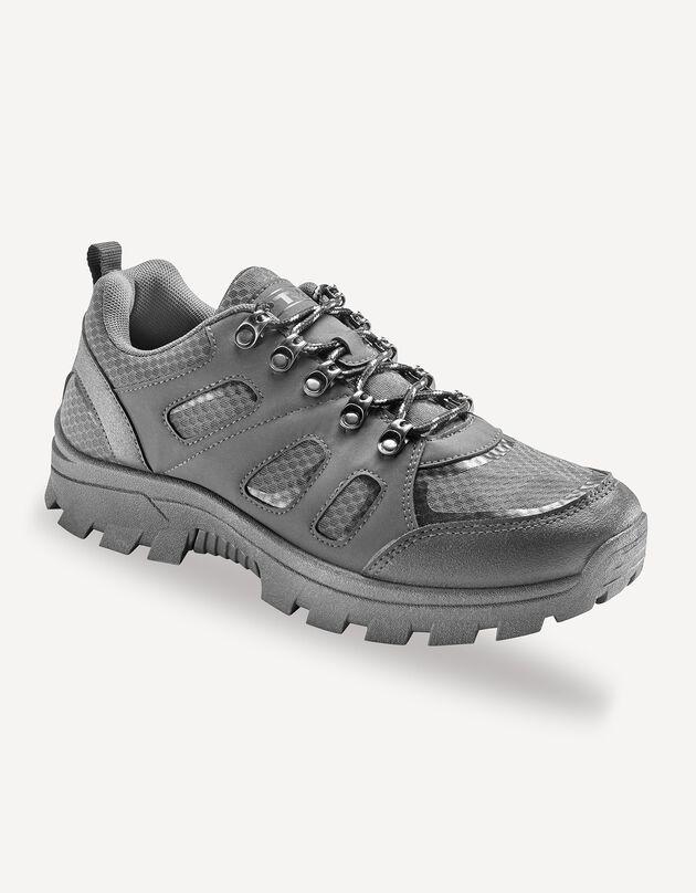 Chaussures lacées détente et loisirs, gris, hi-res