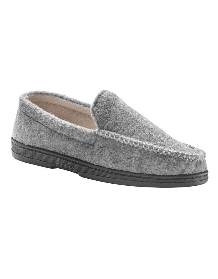 Pantoufles homme feutrine, gris, hi-res image number 0