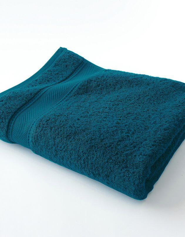 Effen badstof 540g/m2, luxe comfort, pauwblauw, hi-res