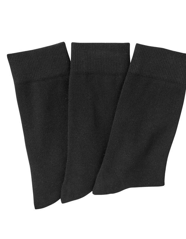 Geassorteerde sokken - set van 3 paar, zwart, hi-res