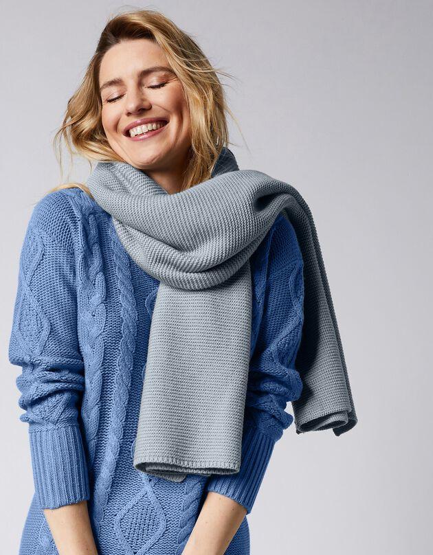 Sjaal, grijs, hi-res