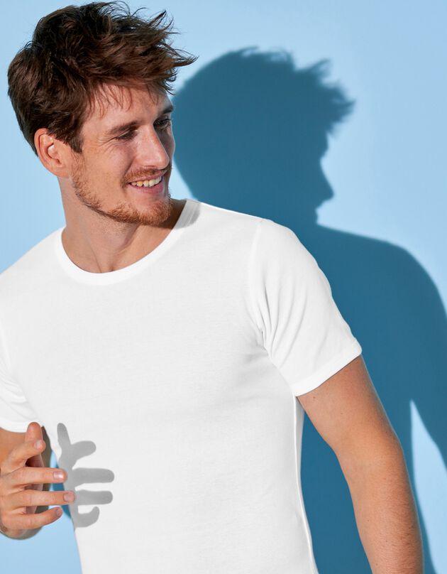 Tee-shirt sous-vêtement homme col rond - lot de 6, blanc, hi-res