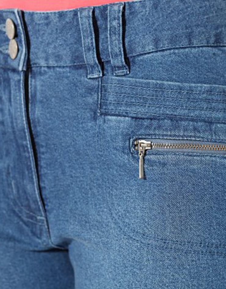 3/4-jeansbroek met knoopjes aan de pijpen, bleached, hi-res image number 5