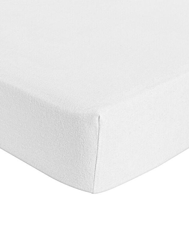 Protège matelas molleton coton bio imperméable, blanc, hi-res
