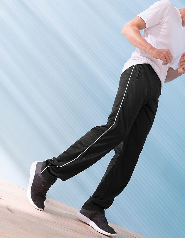 Pantalon sport intérieur gratté, noir, hi-res