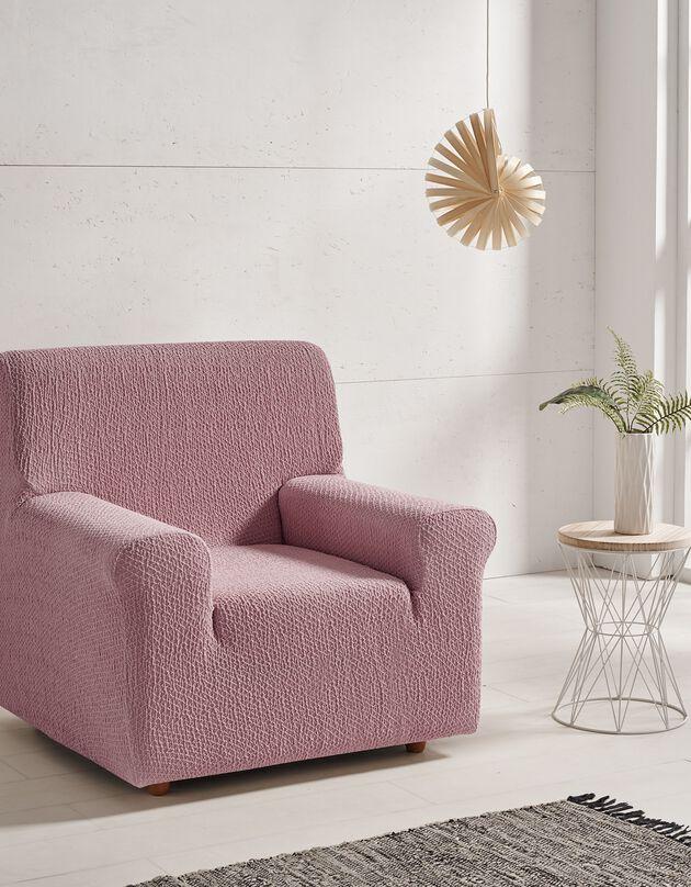 Housse canapé fauteuil bi-extensible Abril, rose, hi-res