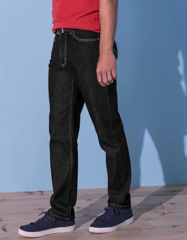 Jeans in katoen met 5 zakken - set van 2, zwart + grijs, hi-res