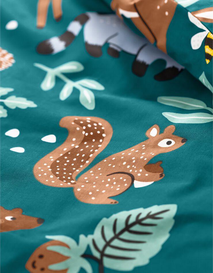 Bedlinnen voor kinderen met knuffelbeer motief in biologisch katoen, eco-verantwoord, groen, hi-res image number 4