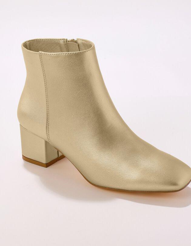 Boots bout carré - doré, doré, hi-res