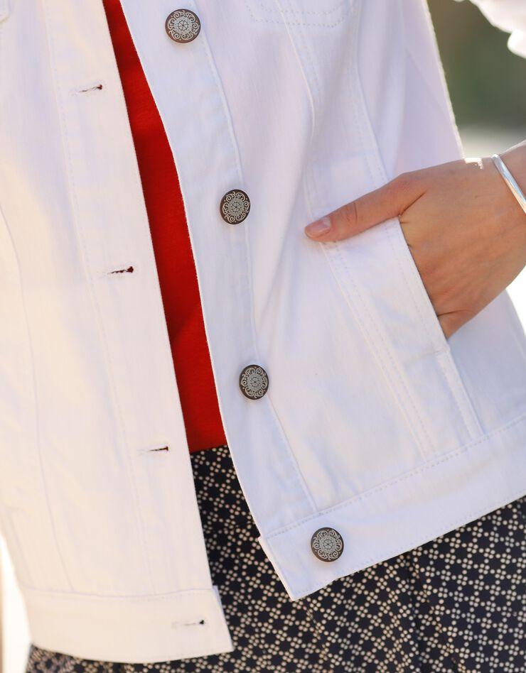Verwassen jeansjasje, wit, hi-res image number 5