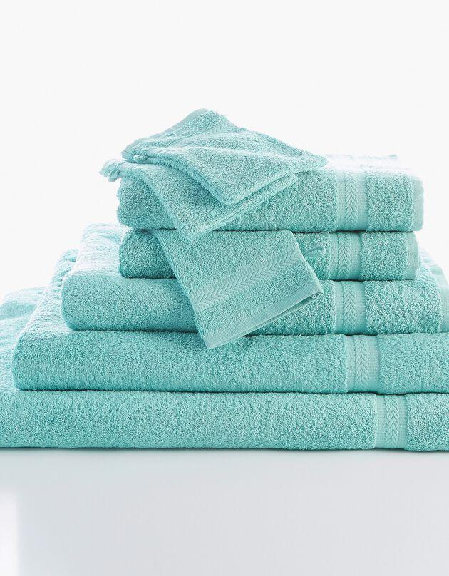 Effen badstof 420 g/m2 met zacht comfort, watergroen, hi-res