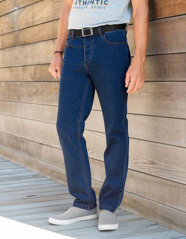 Authentieke jeans in recht model - binnenpijplengte 72 cm, double stone, hi-res