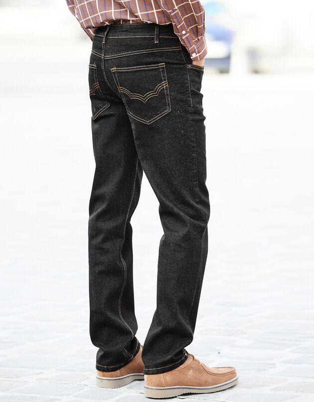 Jeans met 5 zakken in rekbaar katoen, black, hi-res
