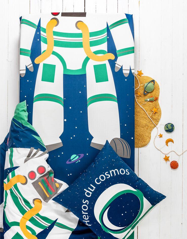 Bedlinnen voor kinderen met vermommingseffect Cosmos, in katoen, marine, hi-res image number 5