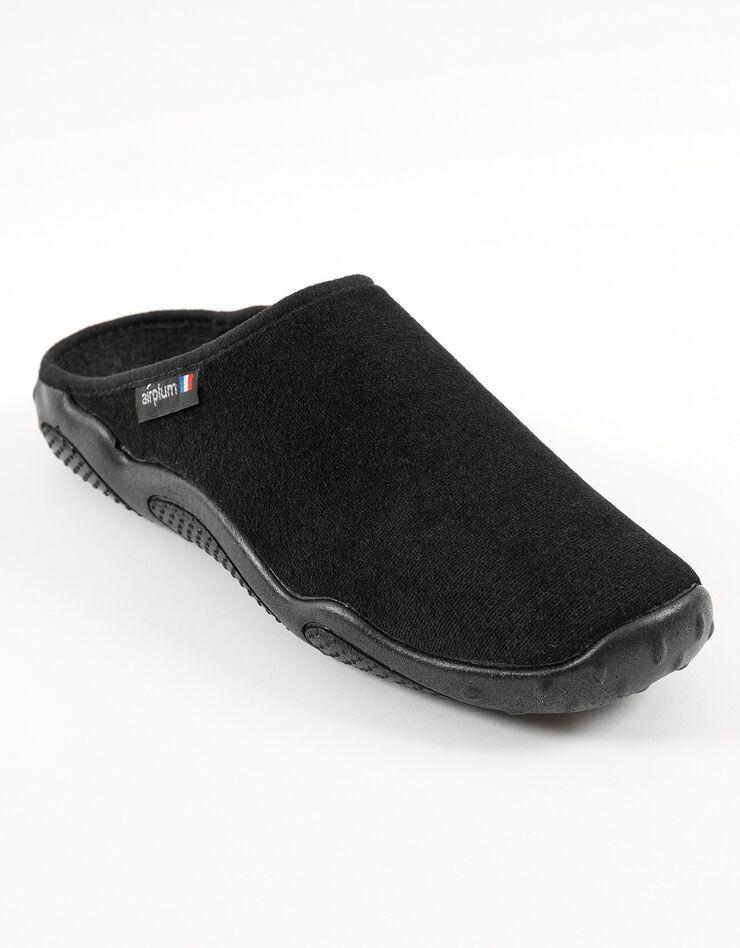 Mules homme semelles Airplum textile éponge, noir, hi-res image number 0
