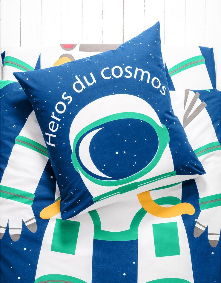 Bedlinnen voor kinderen met vermommingseffect Cosmos, in katoen, marine, hi-res image number 1