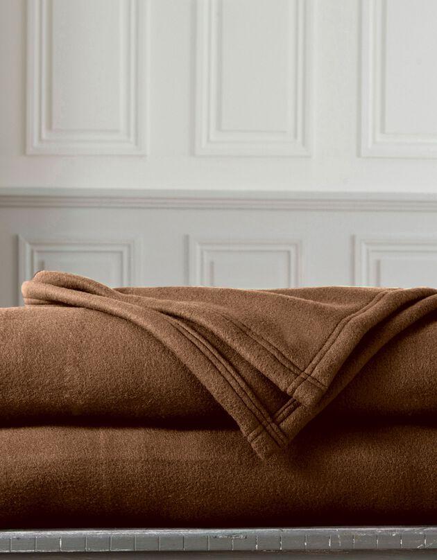 Fleece deken 300g/m2, voor de beste prijs, chocolade, hi-res