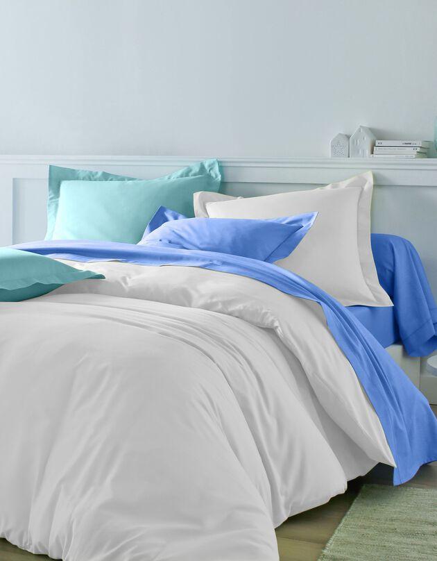 Linge de lit uni coton, blanc, hi-res