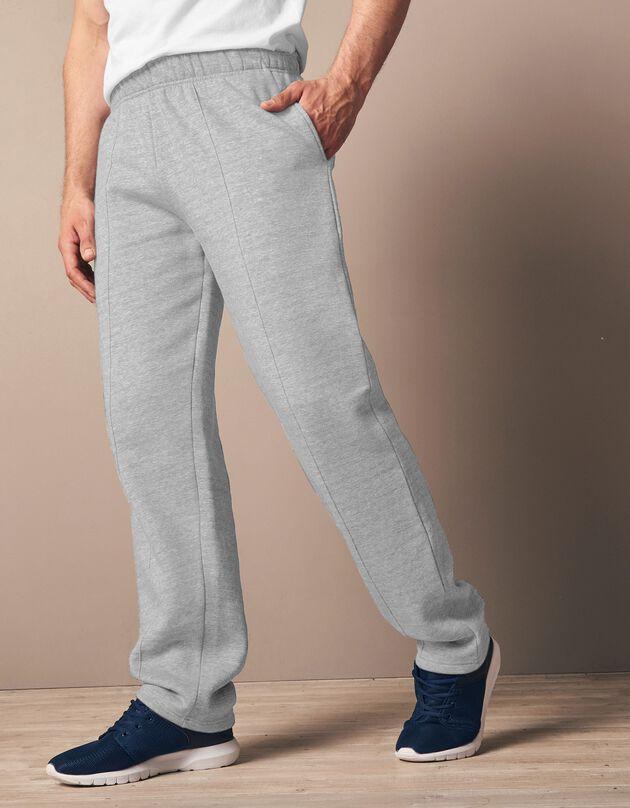 Pantalon loisirs molleton, gris chiné, hi-res
